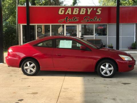 2003 Honda Accord for sale at GABBY'S AUTO SALES in Valparaiso IN