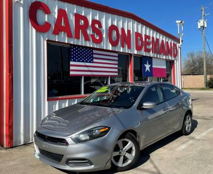2015 Dodge Dart for sale at Cars On Demand 2 in Pasadena TX