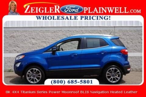 2019 Ford EcoSport for sale at Zeigler Ford of Plainwell- michael davis in Plainwell MI