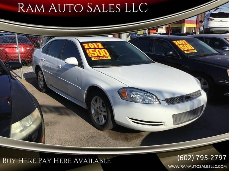 2012 Chevrolet Impala for sale at Ram Auto Sales LLC in Phoenix AZ
