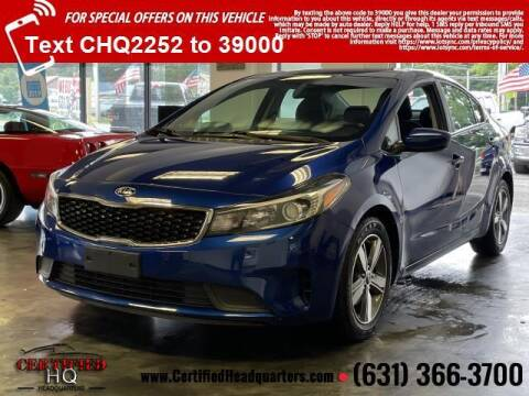 2018 Kia Forte for sale at CERTIFIED HEADQUARTERS in Saint James NY