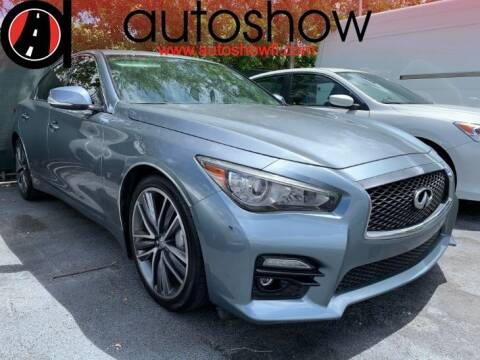 2015 Infiniti Q50 for sale at AUTOSHOW SALES & SERVICE in Plantation FL
