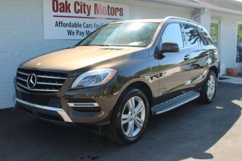 2013 Mercedes-Benz M-Class for sale at Oak City Motors in Garner NC