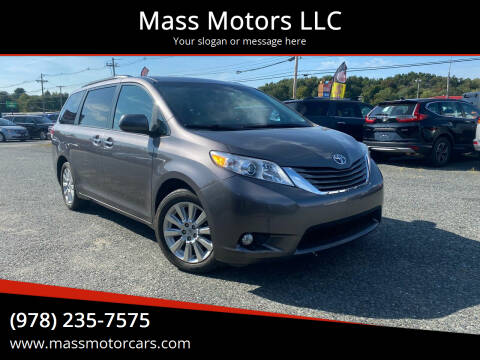 2011 Toyota Sienna for sale at Mass Motors LLC in Worcester MA