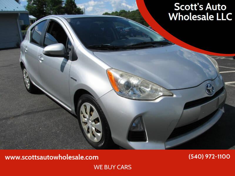 2012 Toyota Prius c for sale at Scott's Auto Wholesale LLC in Locust Grove VA
