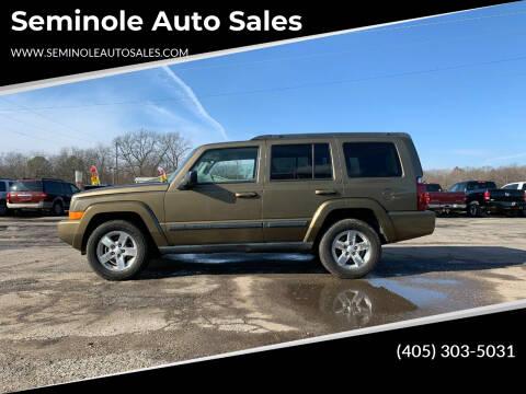 2008 Jeep Commander for sale at Seminole Auto Sales in Seminole OK