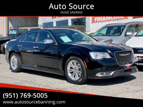 2016 Chrysler 300 for sale at Auto Source in Banning CA
