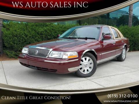 2004 Mercury Grand Marquis for sale at WS AUTO SALES INC in El Cajon CA