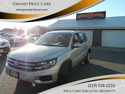 2012 Volkswagen Tiguan for sale at Grand Prize Cars in Cedar Lake IN