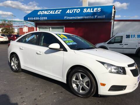 2014 Chevrolet Cruze for sale at Gonzalez Auto Sales in Joliet IL