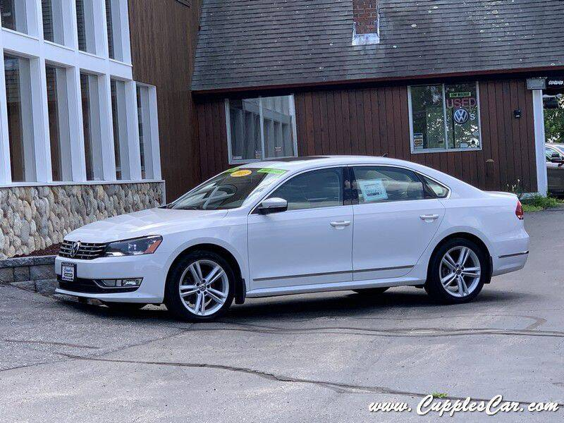 2012 Volkswagen Passat for sale at Cupples Car Company in Belmont NH