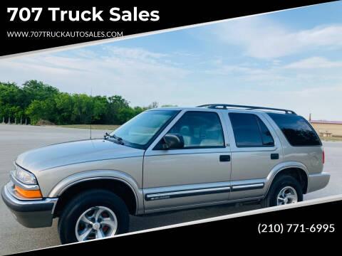 2001 Chevrolet Blazer for sale at 707 Truck Sales in San Antonio TX