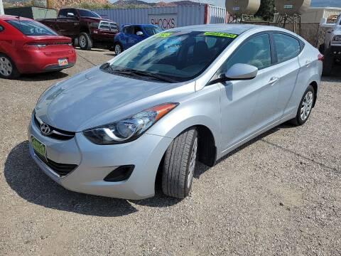 2013 Hyundai Elantra for sale at Canyon View Auto Sales in Cedar City UT