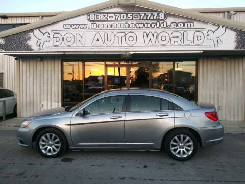2013 Chrysler 200 for sale at Don Auto World in Houston TX