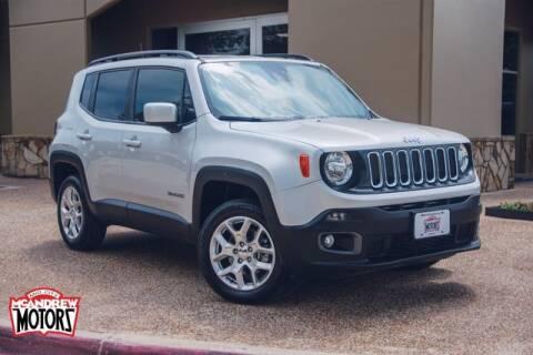 2018 Jeep Renegade for sale at Mcandrew Motors in Arlington TX