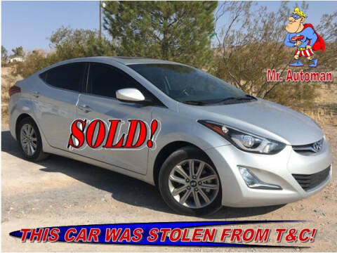 2015 Hyundai Elantra for sale at TOWN & COUNTRY AUTO SALES in Overton NV
