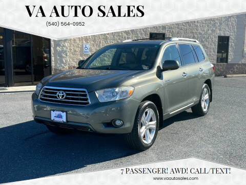 2008 Toyota Highlander for sale at Va Auto Sales in Harrisonburg VA