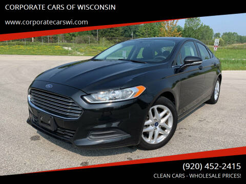 2015 Ford Fusion for sale at CORPORATE CARS OF WISCONSIN in Sheboygan WI