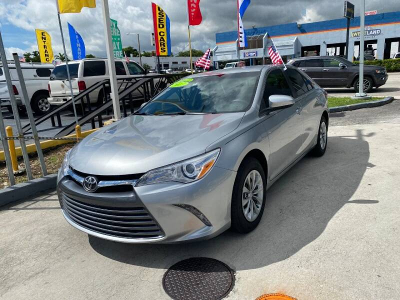 2017 Toyota Camry for sale at Navarro Auto Motors in Hialeah FL