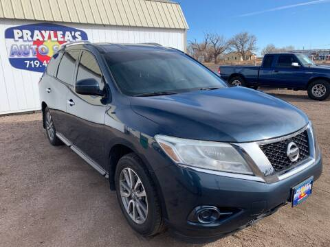 2014 Nissan Pathfinder for sale at Praylea's Auto Sales in Peyton CO