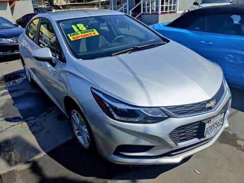 2018 Chevrolet Cruze for sale at Rey's Auto Sales in Stockton CA