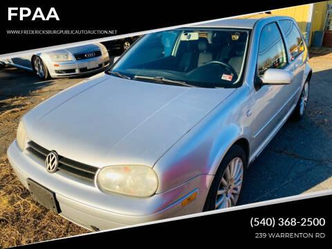 2005 Volkswagen GTI for sale at FPAA in Fredericksburg VA