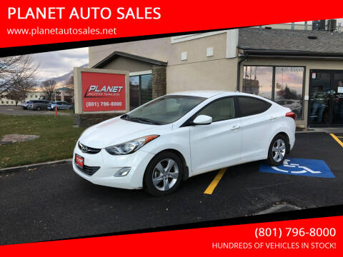 2013 Hyundai Elantra for sale at PLANET AUTO SALES in Lindon UT
