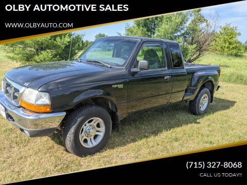 2000 Ford Ranger for sale at OLBY AUTOMOTIVE SALES in Frederic WI