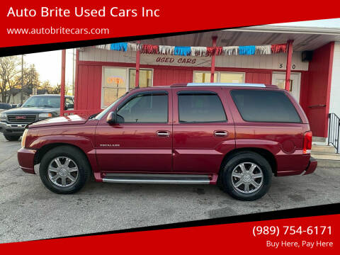 2004 Cadillac Escalade for sale at Auto Brite Used Cars Inc in Saginaw MI