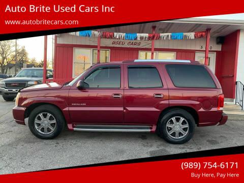 2004 Cadillac Escalade for sale at Auto Brite Used Cars Inc in Saginaw MI