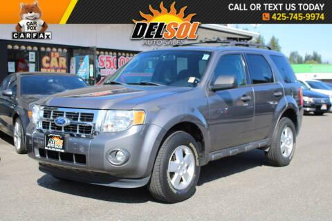 2011 Ford Escape for sale at Del Sol Auto Sales in Everett WA