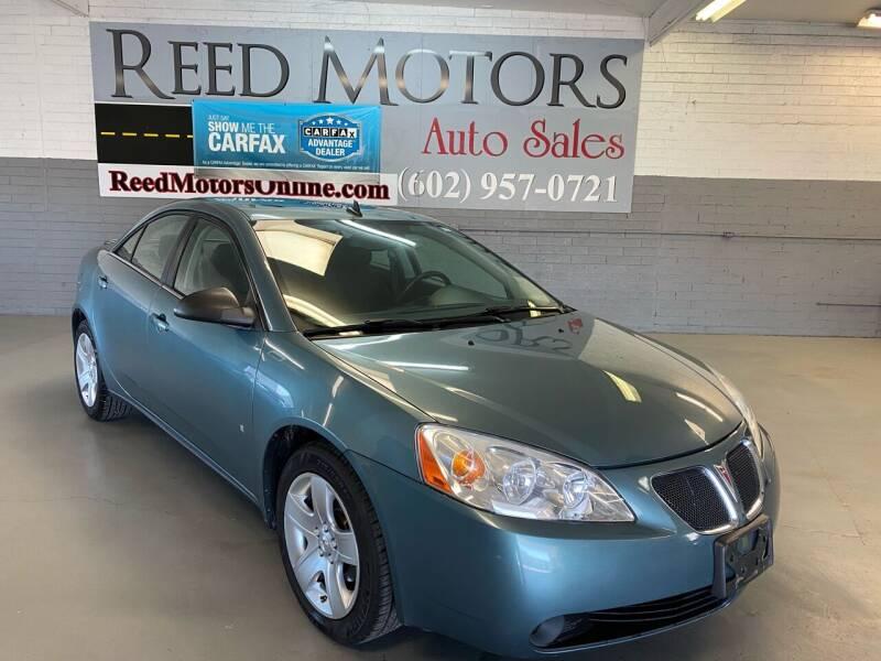 2009 Pontiac G6 for sale at REED MOTORS LLC in Phoenix AZ