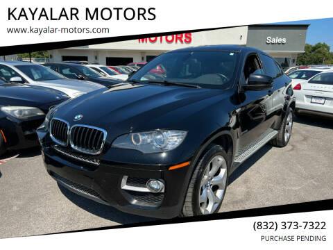 2013 BMW X6 for sale at KAYALAR MOTORS in Houston TX