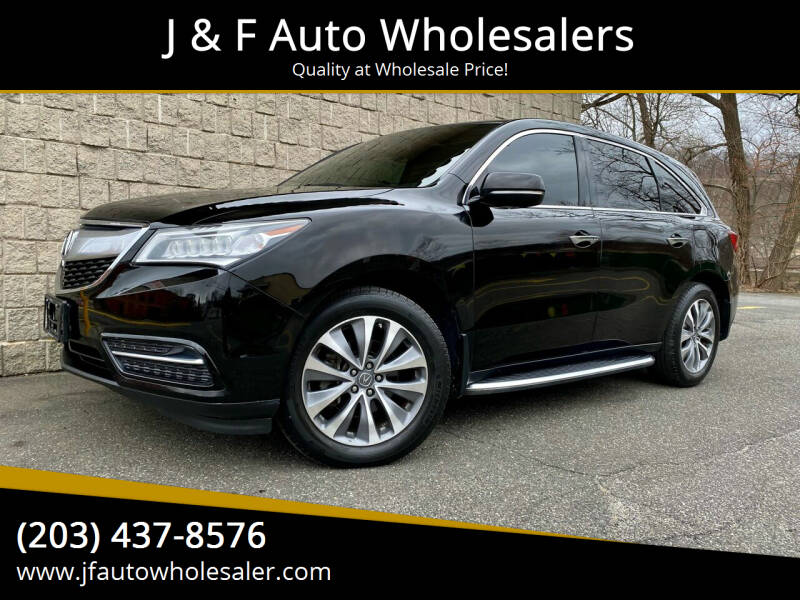 2014 Acura MDX for sale at J & F Auto Wholesalers in Waterbury CT