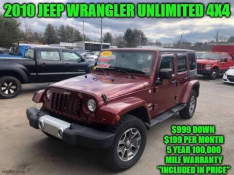 2010 Jeep Wrangler Unlimited for sale at D&D Auto Sales, LLC in Rowley MA