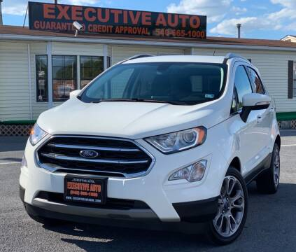 2018 Ford EcoSport for sale at Executive Auto in Winchester VA