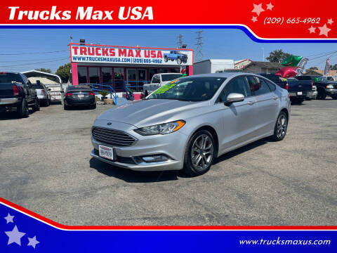 2017 Ford Fusion for sale at Trucks Max USA in Manteca CA