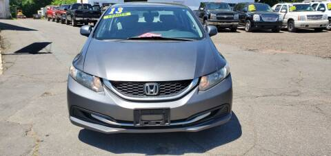 2013 Honda Civic for sale at Russo's Auto Exchange LLC in Enfield CT