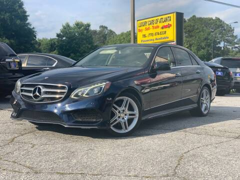 2014 Mercedes-Benz E-Class for sale at Luxury Cars of Atlanta in Snellville GA