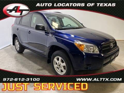 2007 Toyota RAV4 for sale at AUTO LOCATORS OF TEXAS in Plano TX