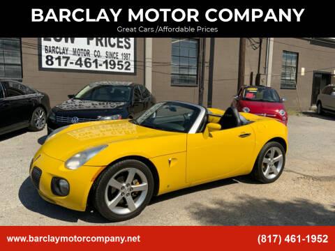 2007 Pontiac Solstice for sale at BARCLAY MOTOR COMPANY in Arlington TX