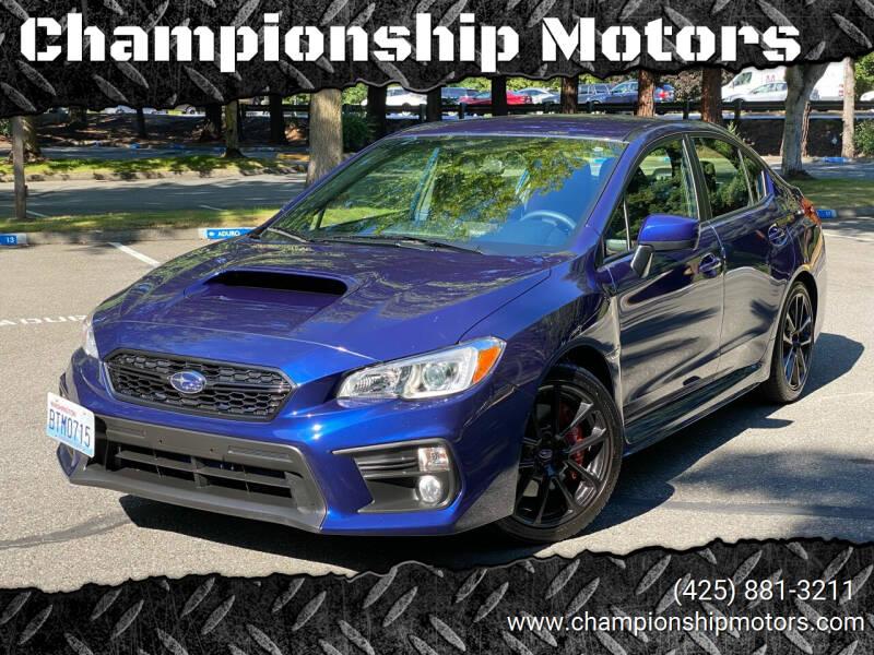 2020 Subaru WRX for sale at Championship Motors in Redmond WA