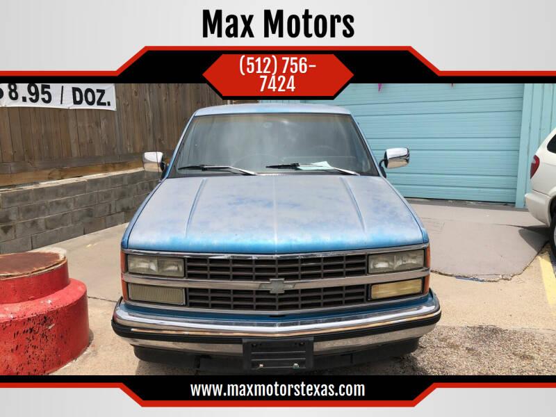 1991 Chevrolet C/K 1500 Series for sale at Max Motors in Corpus Christi TX