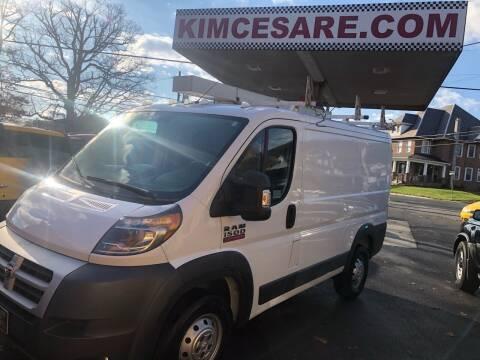 2014 RAM ProMaster Cargo for sale at KIM CESARE AUTO SALES in Pen Argyl PA