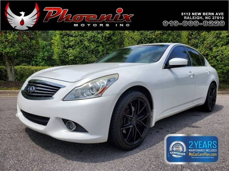 2011 Infiniti G37 Sedan for sale at Phoenix Motors Inc in Raleigh NC
