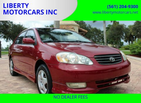 2004 Toyota Corolla for sale at LIBERTY MOTORCARS INC in Royal Palm Beach FL