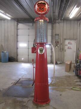 1920  gilbert barker visible gas pump for sale at IVERSON'S CAR SALES in Canton SD