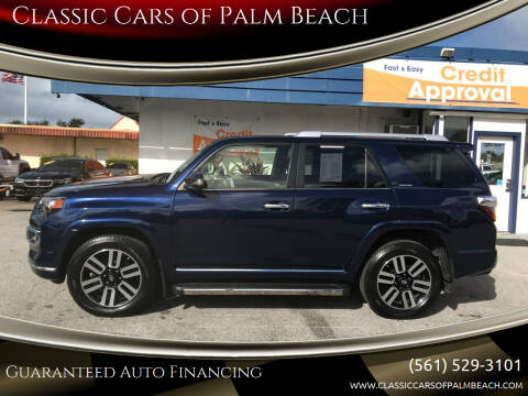 2018 Toyota 4Runner for sale at Classic Cars of Palm Beach in Jupiter FL