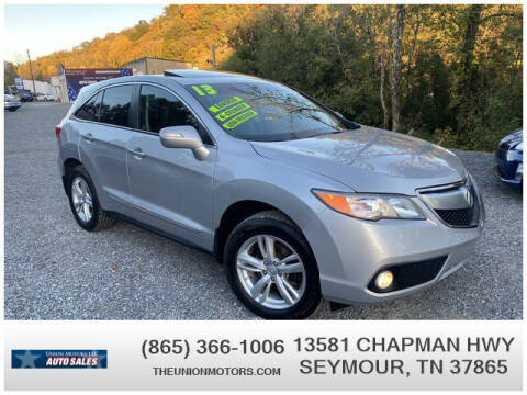 2013 Acura RDX for sale at Union Motors in Seymour TN