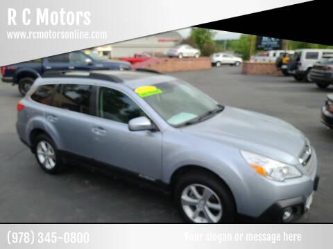 2014 Subaru Outback for sale at R C Motors in Lunenburg MA